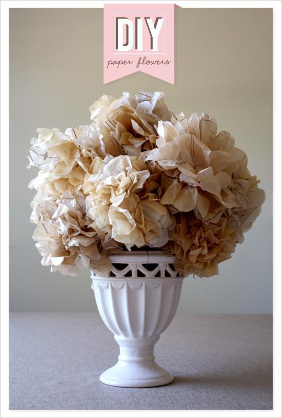 diy fleurs de papier diy 792709 weddbook. Black Bedroom Furniture Sets. Home Design Ideas