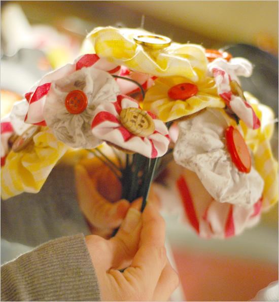 Mariage - Bouquet Tissu bricolage