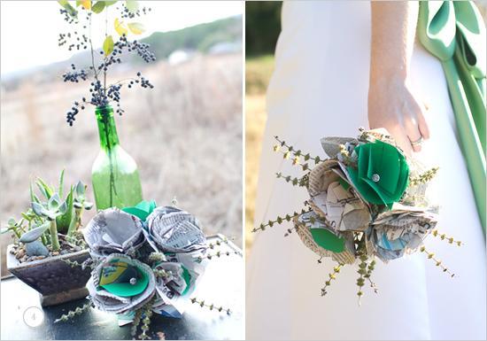 Mariage - Bouquet de mariée journal