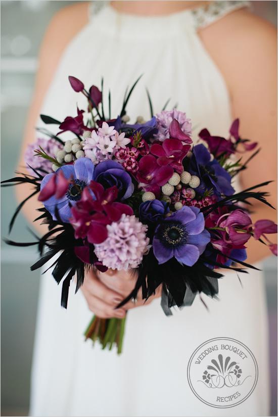 Hochzeit - Purple Hochzeit Bouquet