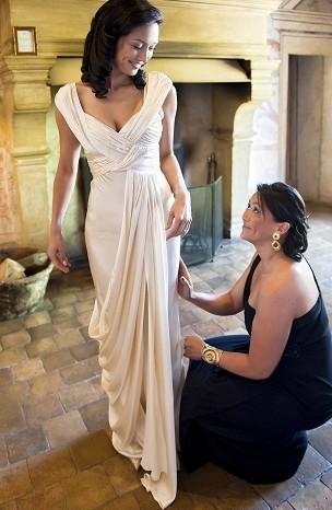 Glamorous wedding dresses glamorous yet simple cream wedding dress