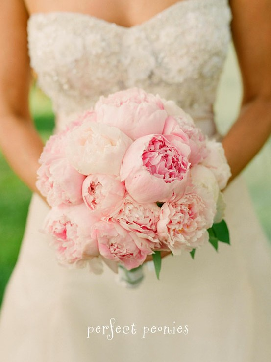 Pink Peony Wedding Bouquet Natural And Fresh