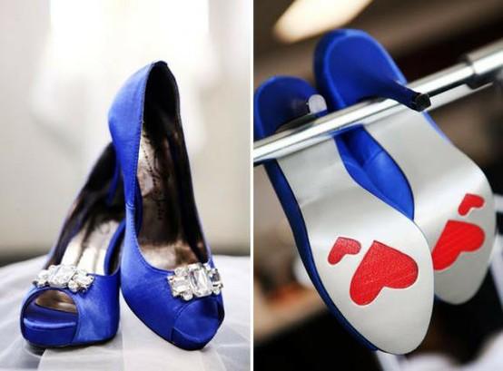 Blaue Hochzeit - Blau Brautschuhe #796568 - Weddbook