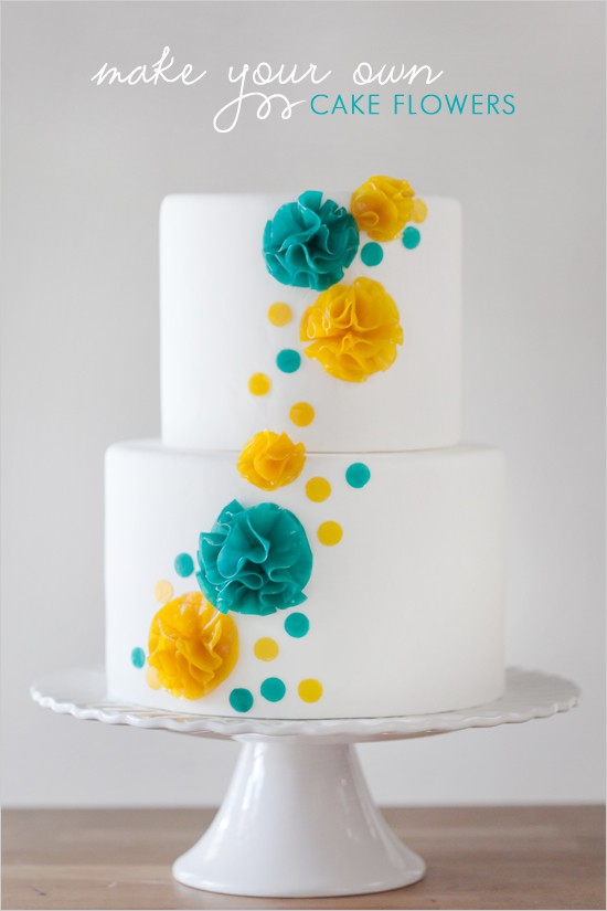 Modern Wedding  Modern Wedding Cakes #796851  Weddbo ~ 222742_Cake Decoration Ideas Diy