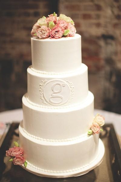 Rustic Wedding ... M Monogram Wedding Cake Toppers