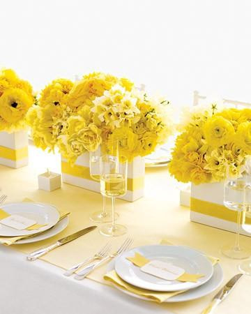 Wedding - Sunny Lemon Yellow Wedding Decor