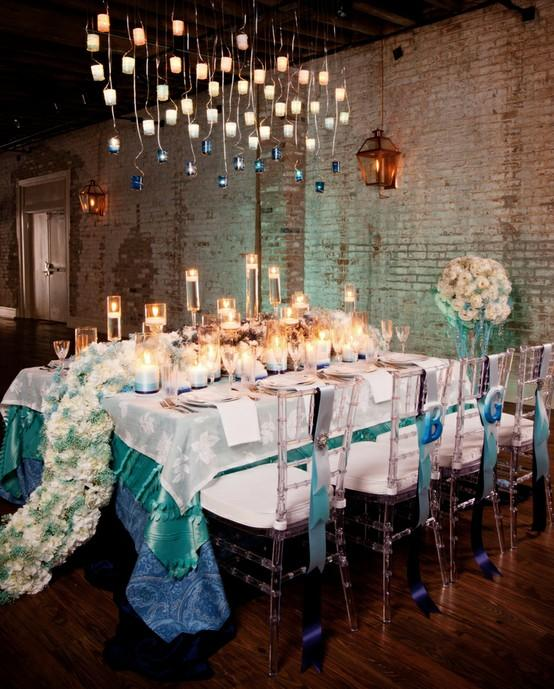 Centerpieces modern wedding centerpieces 797417 weddbook - Deco table retro ...