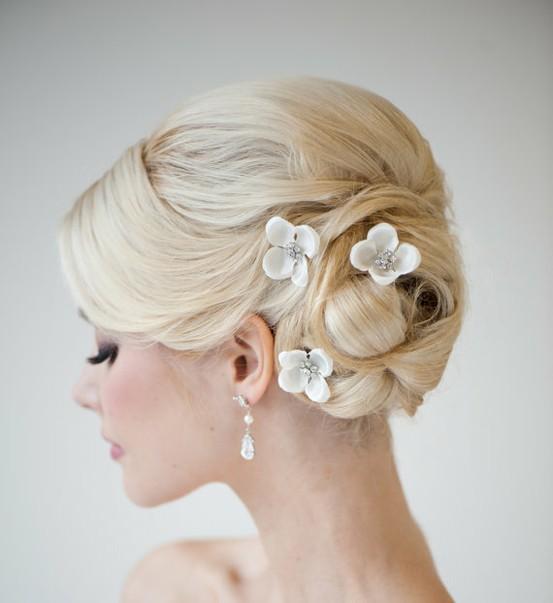 Свадебные прически для средних волос своими руками