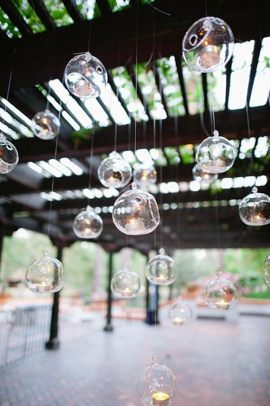 Wedding - Glass Hanging Tealights ♥ Rocking Wedding Decoration