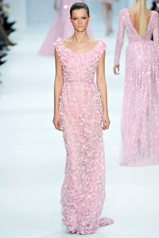 Elie Saab Pink Wedding Dress
