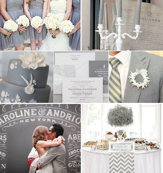 Wedding - Grey Wedding Color Palettes
