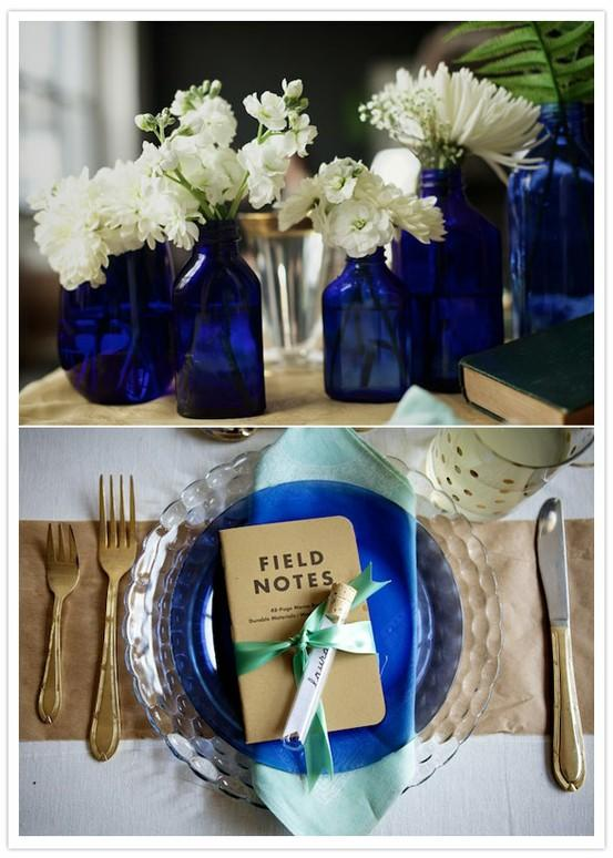 image of Navy Blue Wedding Color Palettes