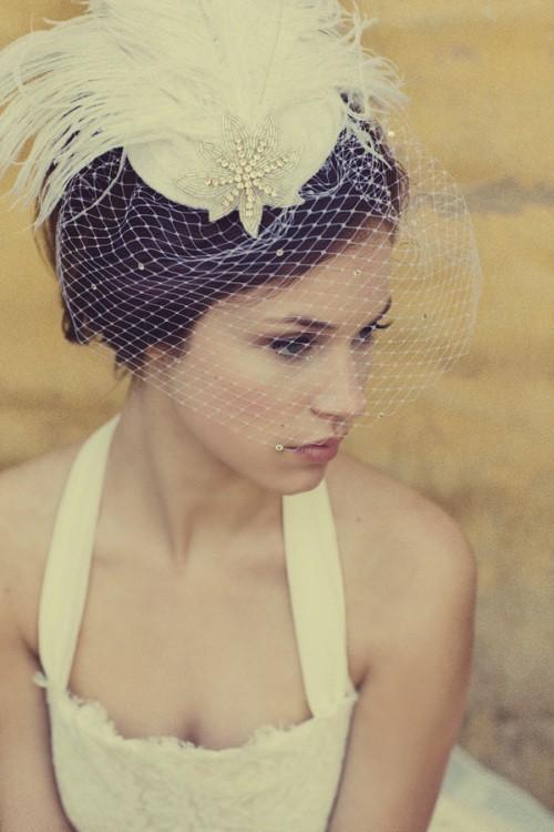 Vintage Birdcage Veil ♥ Chic Bridal Headpieces #799361 ...