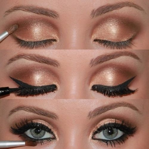 Makeup Ideas For Wedding Blue Eyes : Best Wedding Makeup ? Gold Eye Wedding Makeup #800365 ...