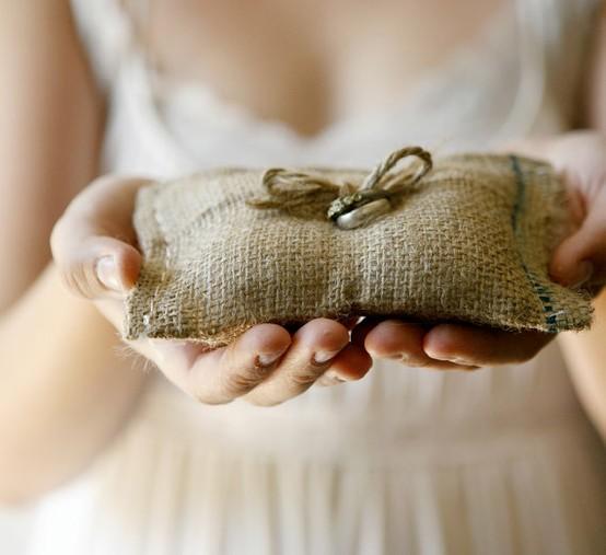 Mariage - Oreiller d'anneau de mariage