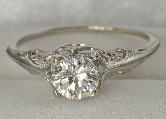 Hochzeit - Antique Wedding Ring ♥ Vintage Wedding Ring