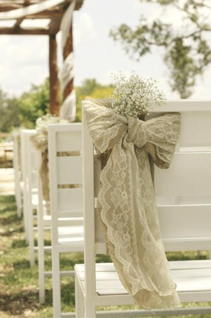 image of Ceremony Decorations ♥ Wedding Chair Decorations and Ideas