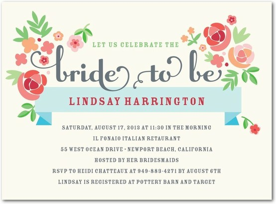 Hochzeit Im Sommer Summer Bridal Shower Invitations 802625 Weddbook