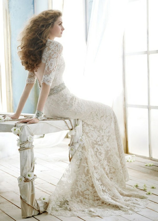 Chic Special Design Wedding Dress Romantic Lace Wedding Dress - Romantic Lace Wedding Dress