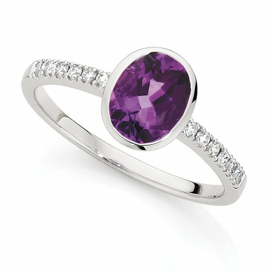 Hochzeit - Amethyst und Diamant-Ring ♥ Gorgeous Gold Ring