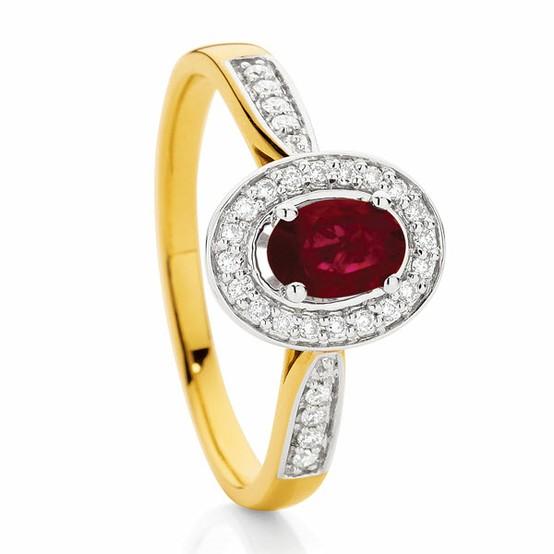 زفاف - روبي خاتم الماس وخاتم الذهب رائع ♥