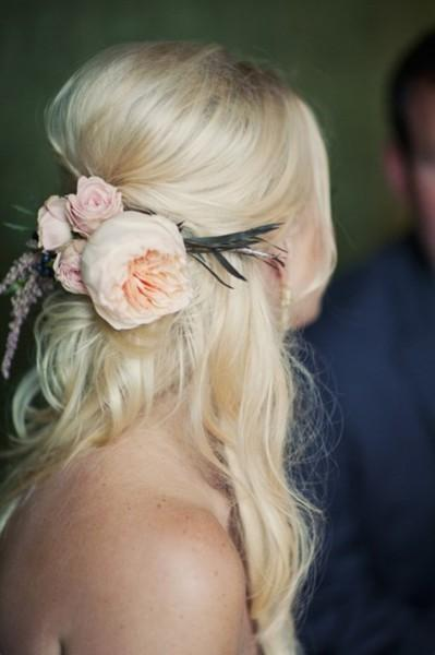 Wedding - Natural Wedding HairStyles ♥ Half Up Wedding Hairstyle