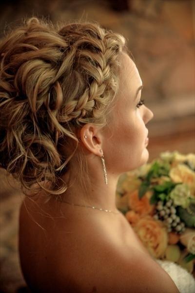 Swell French Braid Wedding Hairstyles Wavy Wedidng Updo 804027 Short Hairstyles For Black Women Fulllsitofus