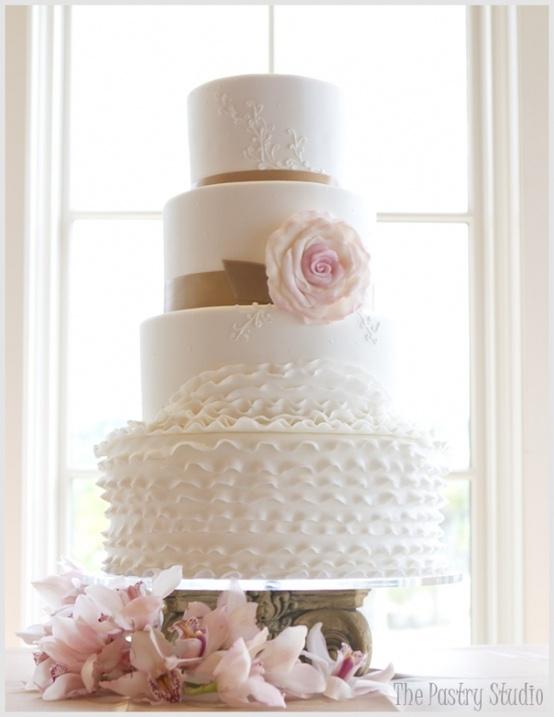 زفاف - أنيقة كعك الزفاف كعكة الزفاف الكشكشة ♥ التصميم