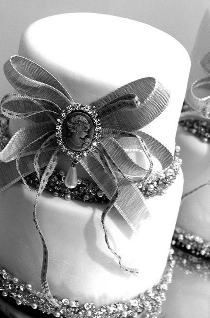 Wedding - Vintage White Fondant Wedding Cakes