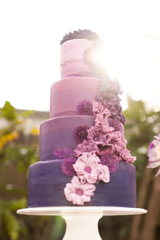 Lila Hochzeit Ombre Hochzeitstorte Design 805164 Weddbook