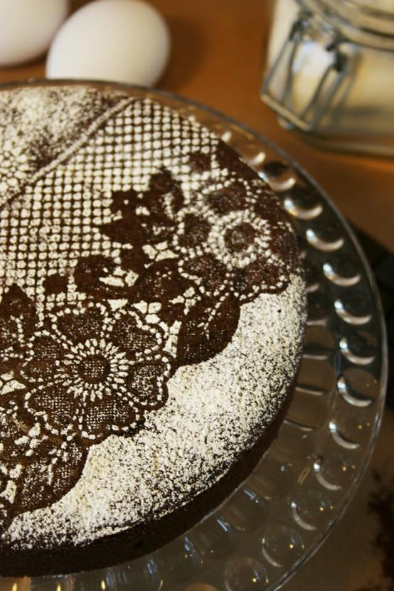 Wedding - Powdered Sugar Homemade Special Chocolate Cake