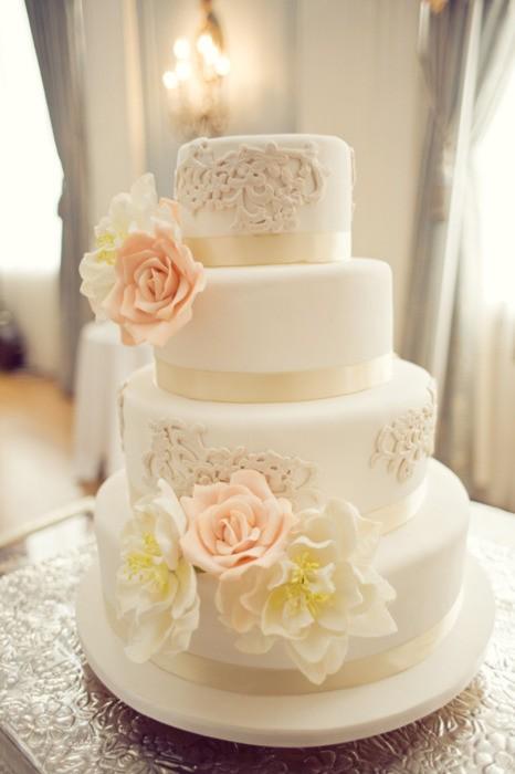 Fondant Wedding Cakes Vintage Wedding Cake 805213