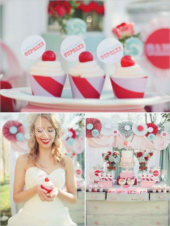 زفاف - طاولات الزفاف حلوى الزفاف ♥ أفكار لطيف