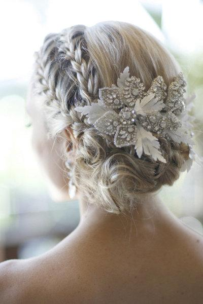 image of Gorgeous Wedding Hair ♥ Sleek Wedding Braided Bun / Updo
