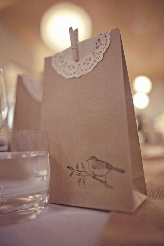 WeddingDIY Vintage Wedding Favors ? Handmade Vintage Gift Bag