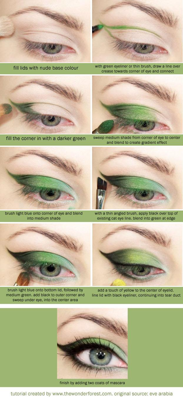Свадьба - Зеленые тени для век Учебник