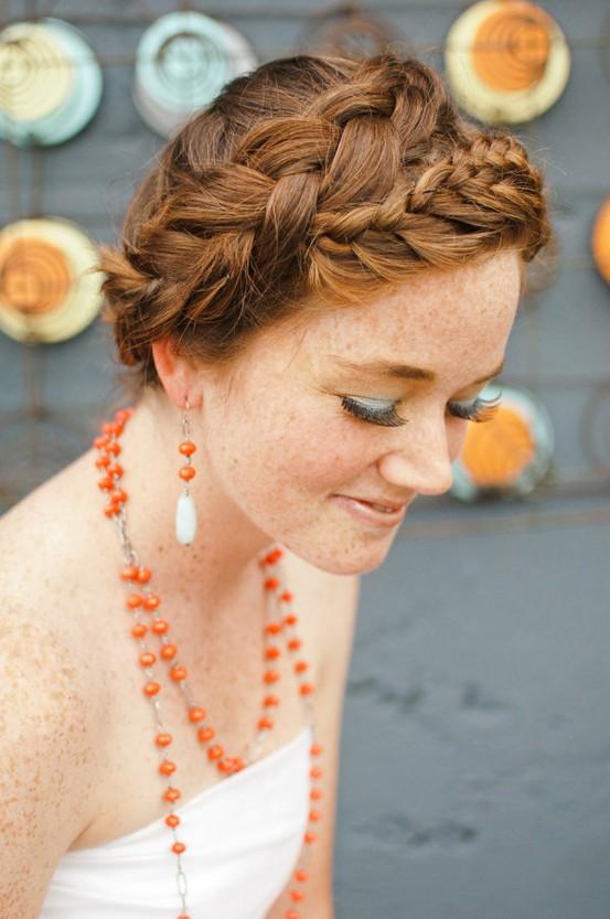 Boda - Bohemia boda bollo trenzado del pelo Peinado ♥ Inpspiration