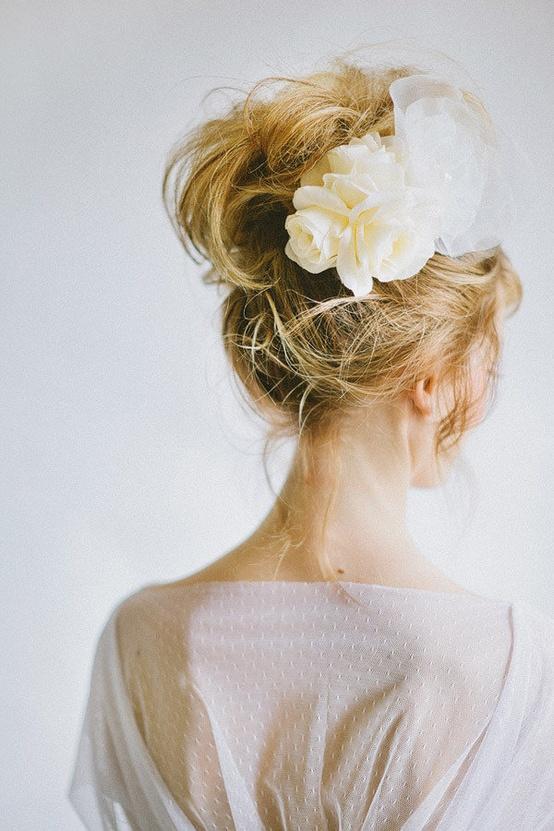 Wedding - Messy Wedding HairStyles ♥ Wedding Messy Updo Hairstyle