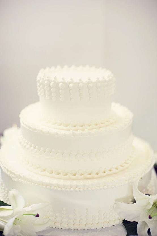 Un gâteau de mariage tout blanc, oui ou non ? 5