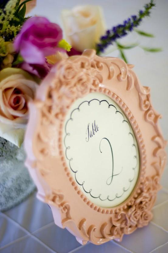 Hochzeit - Gerahmte Wedding Table Nummer