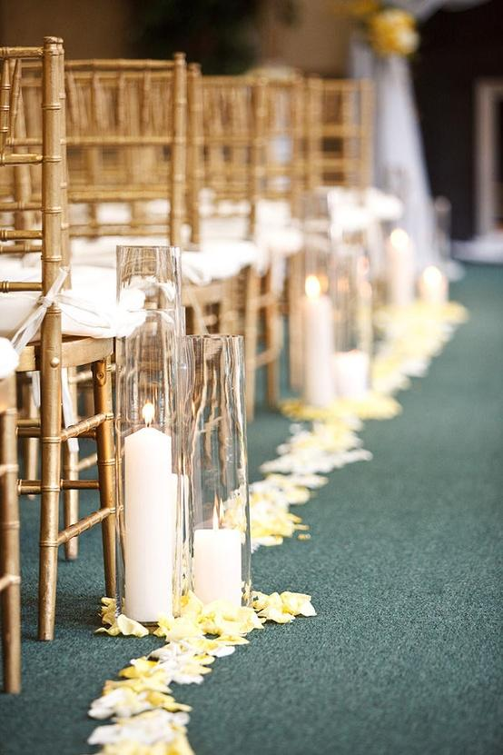 Ceremony wedding aisle decor with candles 893719 weddbook for Aisle decoration for wedding