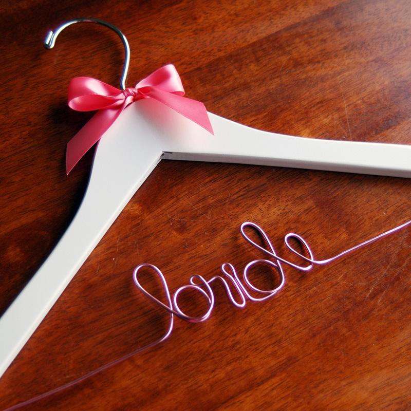 Mariage - Nuptiale rose cintre Hanger mariage ♥