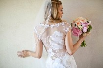 wedding photo - Claire Pettibone Lace Illusion Back Wedding Dress ♥ Beach Wedding Dresses