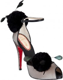 wedding photo - Gorgeous Christian Louboutin Black Lace Shoes  ♥  Special Design Evening Shoes