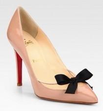 wedding photo -  Christian Louboutin Wedding Shoes  Chic and Comfortable Wedding Pumps | Klasik Rugan Gelin Ayakkabisi Modelleri