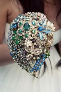 wedding photo - Jewel Wedding Bouquet ♥ Luxus Brosche Wedding Bouquet