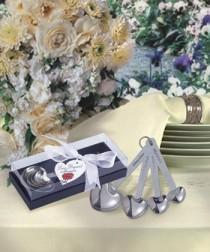 wedding photo - Heart Shaped Measuring Spoons wedding favors