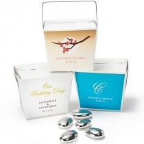 wedding photo - Personalized Take-Out Favor Boxes