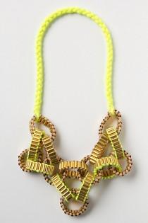 wedding photo -  Eye-pop / Yellow Neon Handmade Necklace |  Sari Neon El Yapimi Kolye
