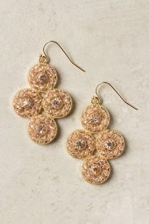 wedding photo - Twinkling Cogs Earrings - B